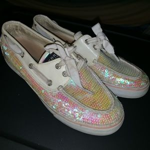 Woman's Pink Sperry's